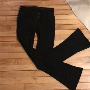 Seven 7 for all mankind black spandex flared jeans
